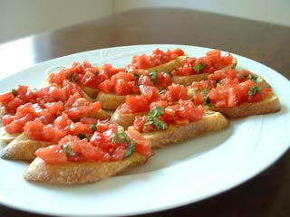 Recipe: Bruschetta with Tomato and Basil