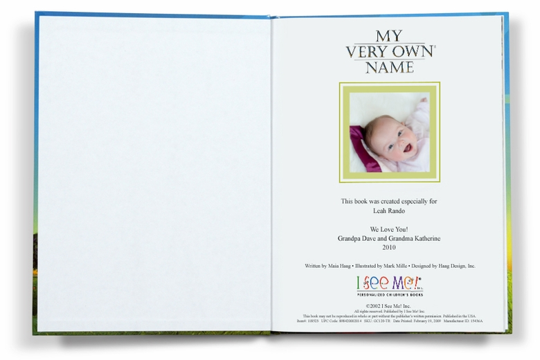 I See Me Personalize Books – My Very Own Name Storybook Makes a Great Baby Gift!