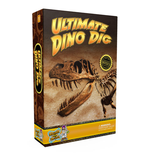 Ultimate Dinosaur Dig Kit – 3 Real Dino Fossils and T-Rex Skeleton