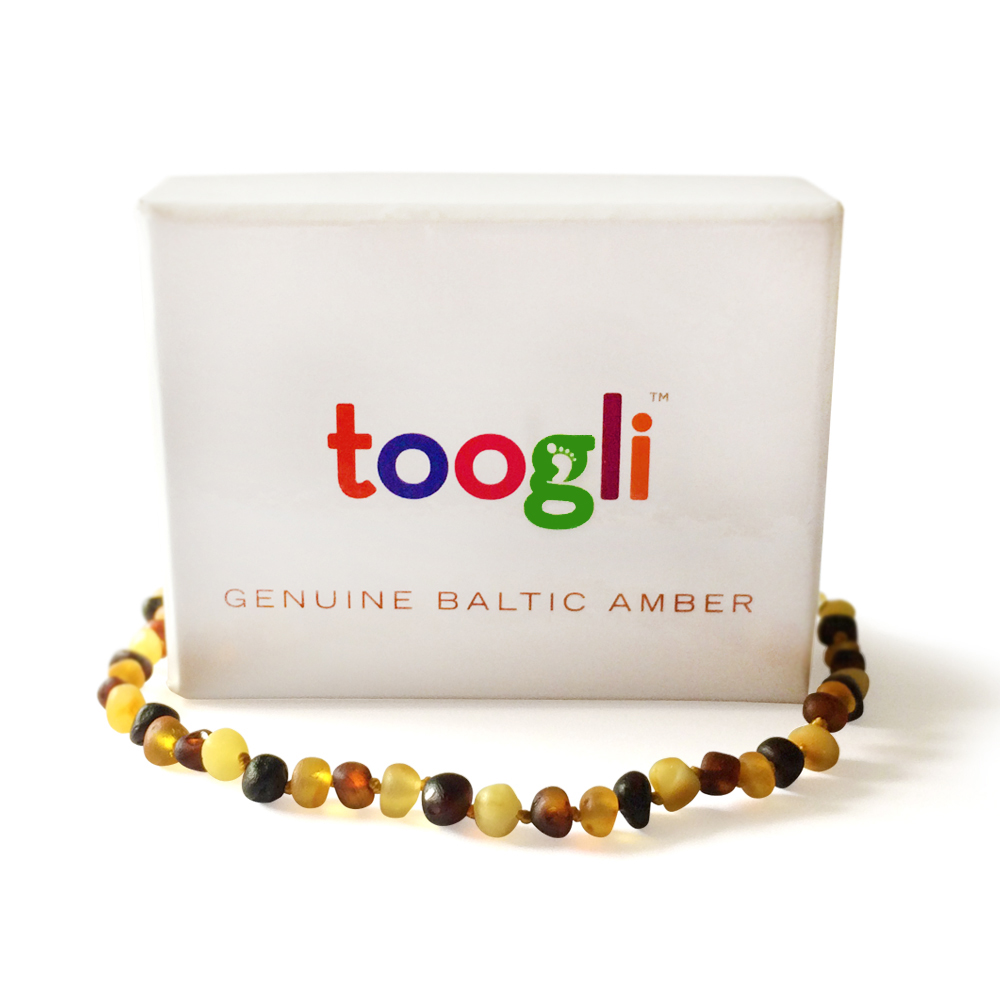 Baltic Amber Teething Necklace by Toogli