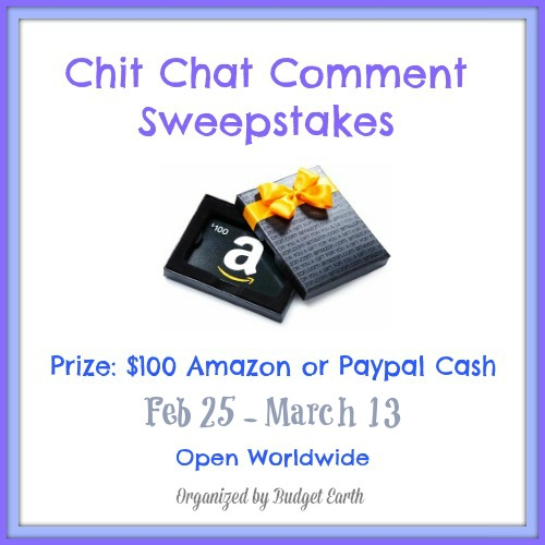 Chit Chat Comment Giveaway