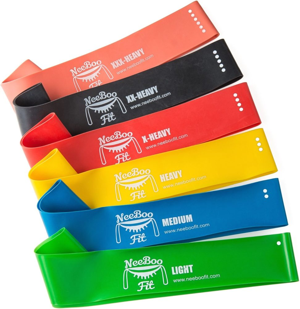 Exercise Bands Loops: NeeBooFit Resistance Loop Bands 6 Piece Set