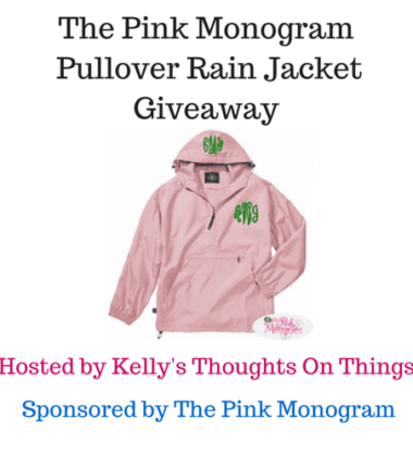 Enter to Win a Pullover Rain Jacket from The Pink Monogram