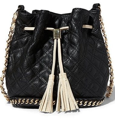 Big Buddha Hankie Drawstring Crossbody - Black