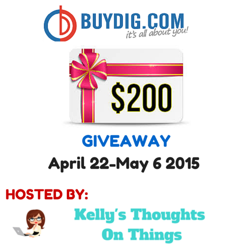 Mother's Day Giveaway- $200 BuyDig.com Gift Card  #ktotbuydig