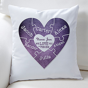 We Love You To Pieces Personalized Throw Pillow