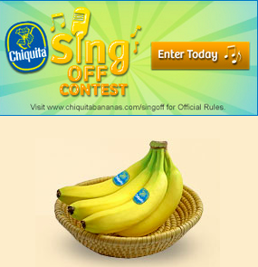 Are you the next Chiquita Sing Off Star?  #ChiquitaSingOff