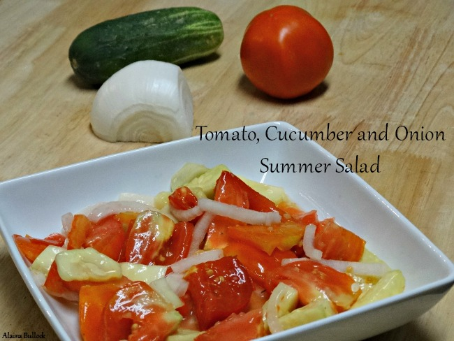 Tomato, Cucumber and Onion Summer Salad