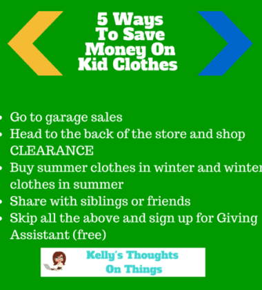 5 Ways to Save Money On Kid clothes.