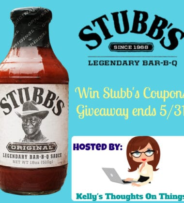 Stubb's Giveaway ends 5/31