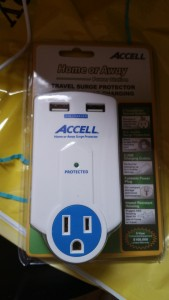 Accell D080B-010K Travel Surge Protector