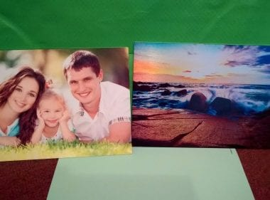 http://aluminyze.com/ - allows anyone to upload any photo and have it printed onto aluminum.