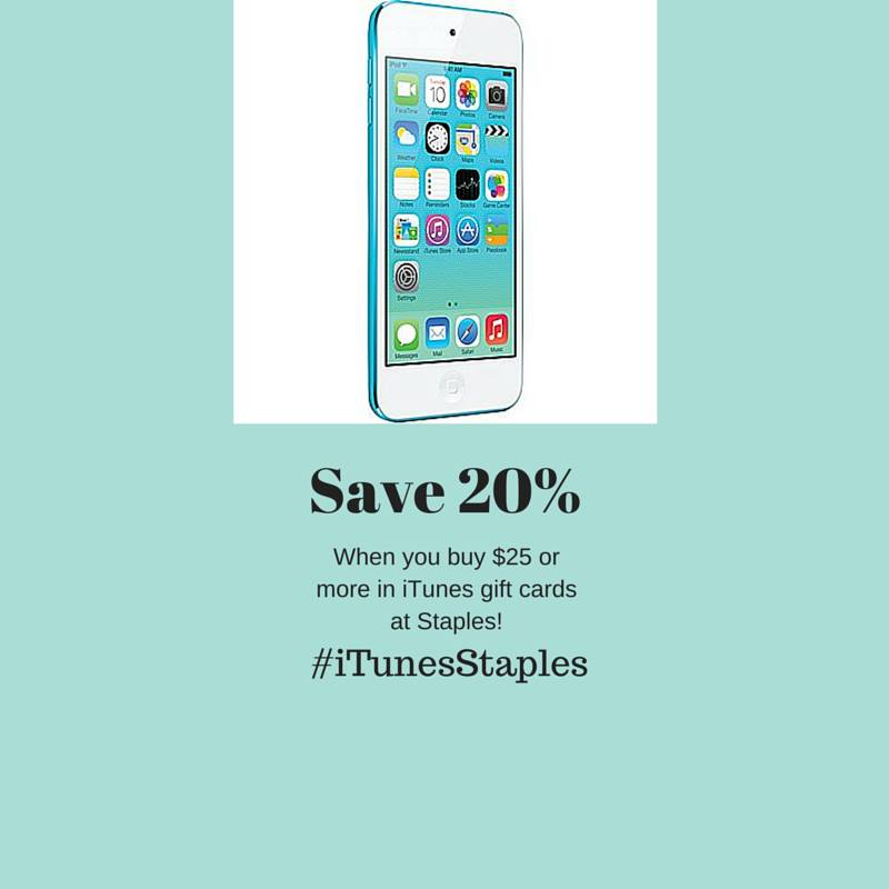 Head to Staples and Save 20% When You Buy $25 or More in iTunes Gift Cards