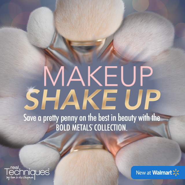 Makeup Shake Up with a Bold New Line of Makeup Brushes at Walmart + Giveaway