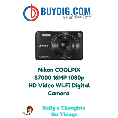 Nikon COOLPIX S7000 16MP 1080p HD Video Wi-Fi Digital Camera
