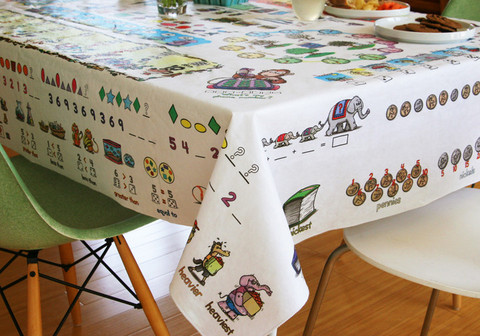 mostly math tablecloth