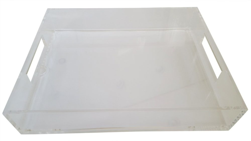 Lucite Tray with Insert #lucitetraywithinsert