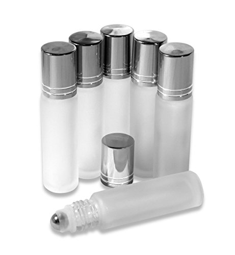 Glass Refillable Essential Oil Roll on Bottles for Aromatherapy, Perfume & Cosmetics
