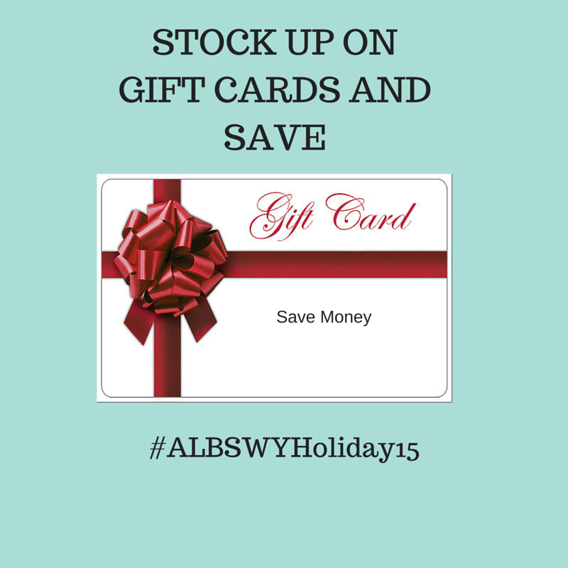 Stock Up on Gift Cards and Save