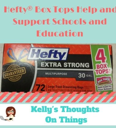 Did you know that Hefty® is the only trash bag that supports Box Tops for Education? .