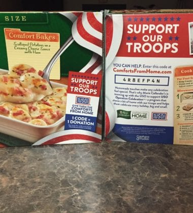 Marie Callender's announced the return of the Comforts from Home Project, a partnership with the United Service Organizations (USO).
