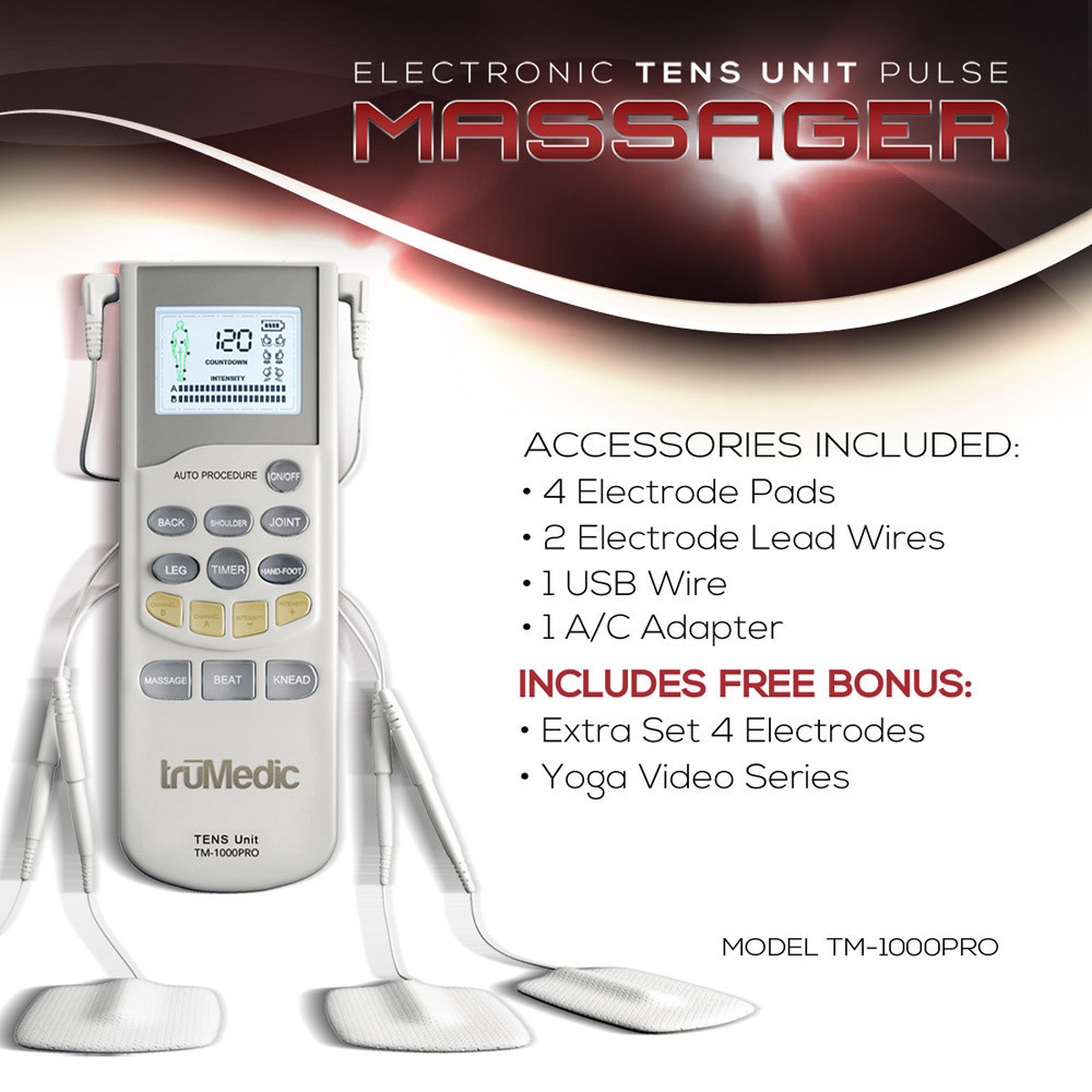 Control Your Pain with a Electric Pulse Massager by TruMedic