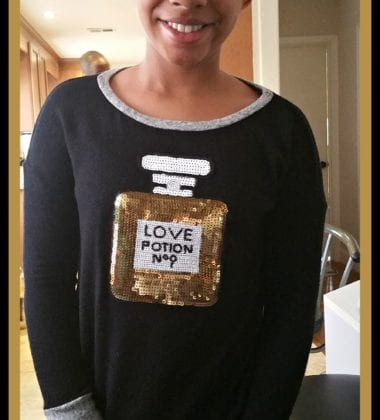 Love Potion No. 9 Sweatshirt worn by Taylor Swift!