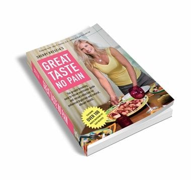 The Great Taste No Pain plan has been carefully constructed to stress the importance of nutrient-packed, delicious real foods, while adhering to the principles of proper food combining, which is an eating lifestyle that centers on pairing foods together that require similar digestive enzymes (acid versus alkaline) so as to make meals less taxing on the system and encourage more efficient and complete digestion.