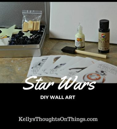 DIY Star Wars Canvas #BigGCereal #TheForceAwakens