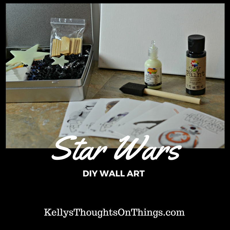 Star Wars DIY Wall Art ~ #BigGCereal #TheForceAwakens #sp