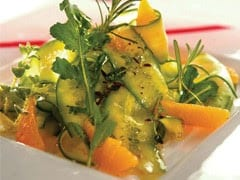 Cucumber Salad with Fresh Herbs, Orange Segments and Citrus Dressing