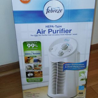 Febreze Air Purifier Cleans your House! (well the air in your house)