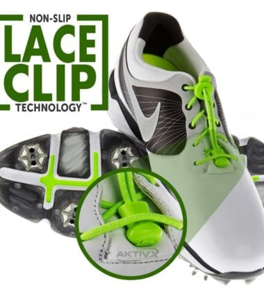 AKTIVX SPORTS® NO TIE SHOELACES FOR GOLF SHOES.