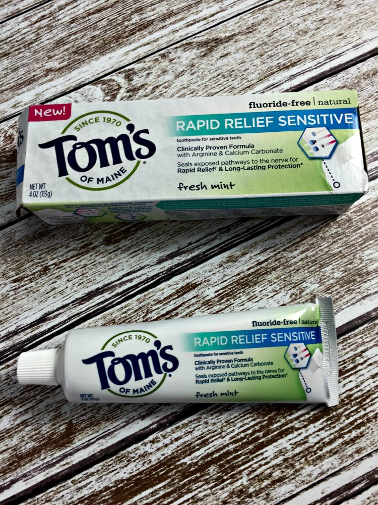 Have sensitive teeth? Try this new product! Tom's of Maine