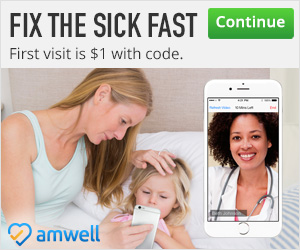 Amwell Will Fix the Sick Fast-$1 Visit Code #momsloveamwell #ad