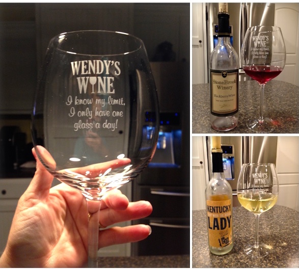 Perfect Glass For The Wine Aficionado - Personal Creations I Know My Limit Wine Glass