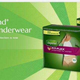 FREE SAMPLE NEW Depend® FIT-FLEX® Underwear