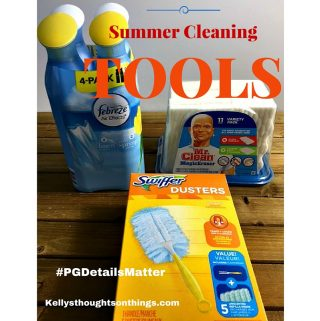 Summer Cleaning Tools and Checklist