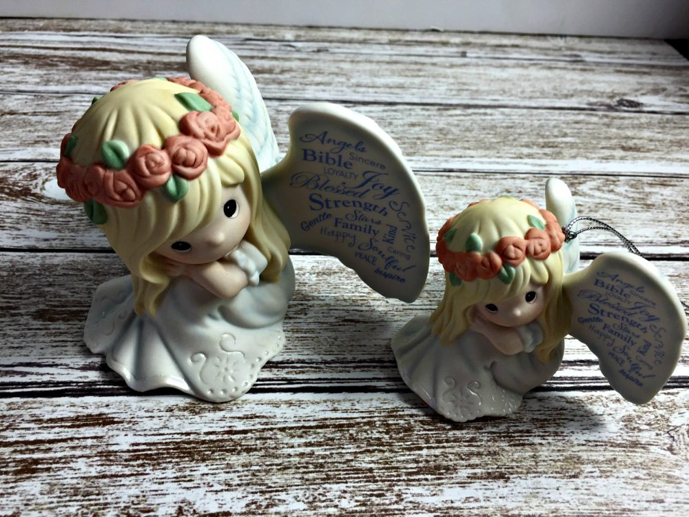 """Precious Moments /""""May Your Life Be Filled With Blessings/"""" Commemorative Bisque Porcelain Figurine"""