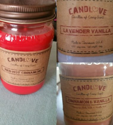 CANDLOVE Scented 16oz Mason Jar Candle 100% Soy