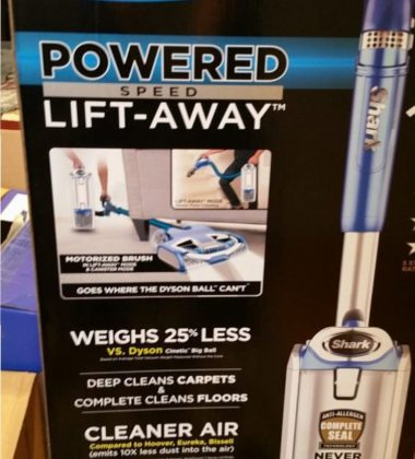 Shark® Rotator® Powered Lift-Away® has more suction than any Dyson® Uprigh