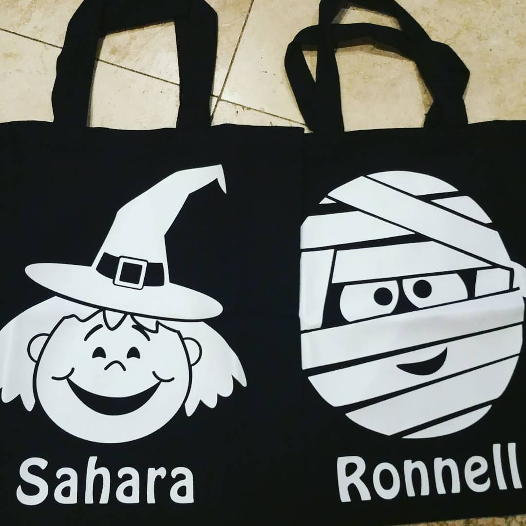 Watch Me Glow Halloween Tote Bags