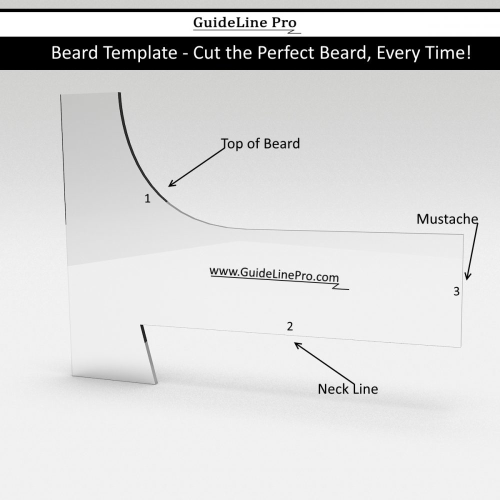 Beard shaping tool guideline pro for Goatee trimming template
