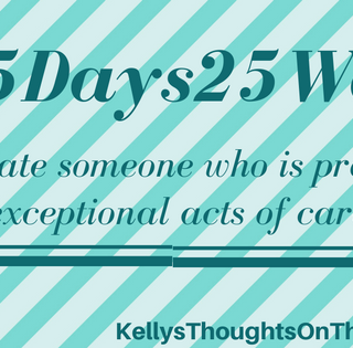 Appreciate the ONE THAT CARES- Enter the #25Days25Ways Create the Good Contest