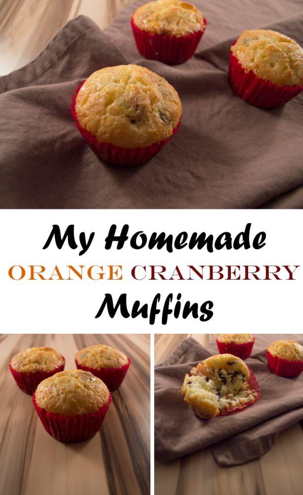 Homemade Orange Cranberry Muffins (recipe) -