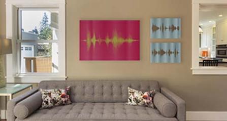 Canvas voice art