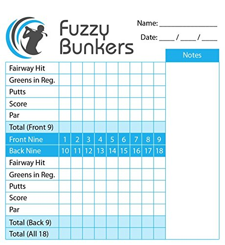 Fuzzy Bunkers Golf Scorecard Holder
