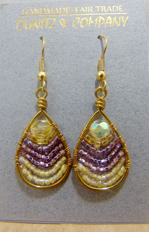 These are some of our most popular earrings. Dangles approximately 1-1/8