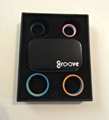 Silicone rings by groove