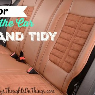 Following these tips and including the MyTidyCar's Trash Can and Hanger Hook in your car will help keep it nice and tidy!